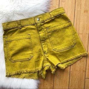 UO Urban Renewal Vintage Reworked Cut Off Shorts